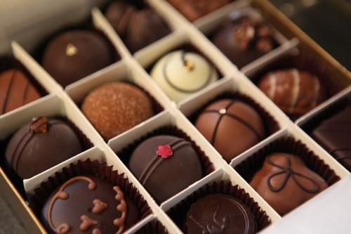 Шоколадные конфеты для сладкого стола