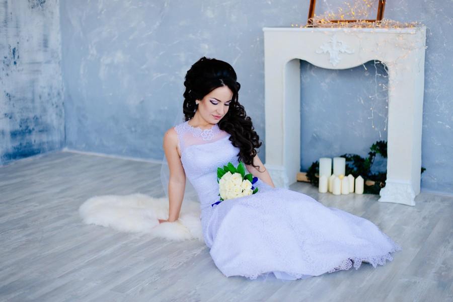 Студийная свадебная фотосессия Юлии и Николая
