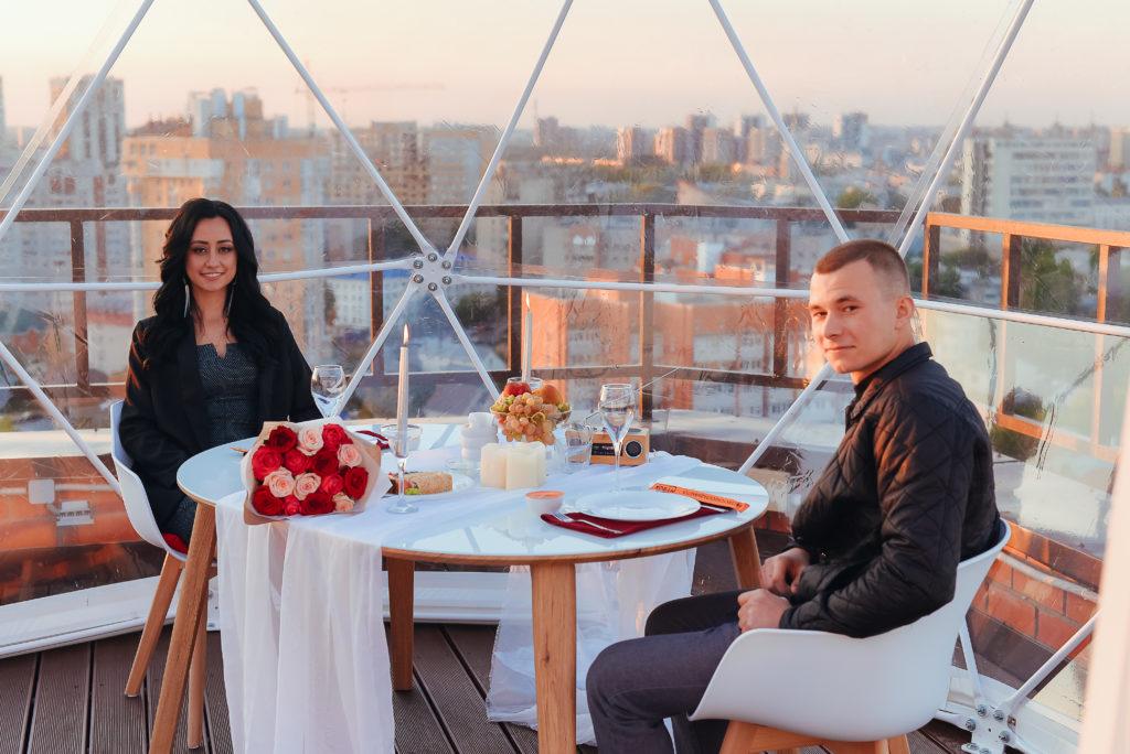 Романтический купол в Воронеже для романтики зимой