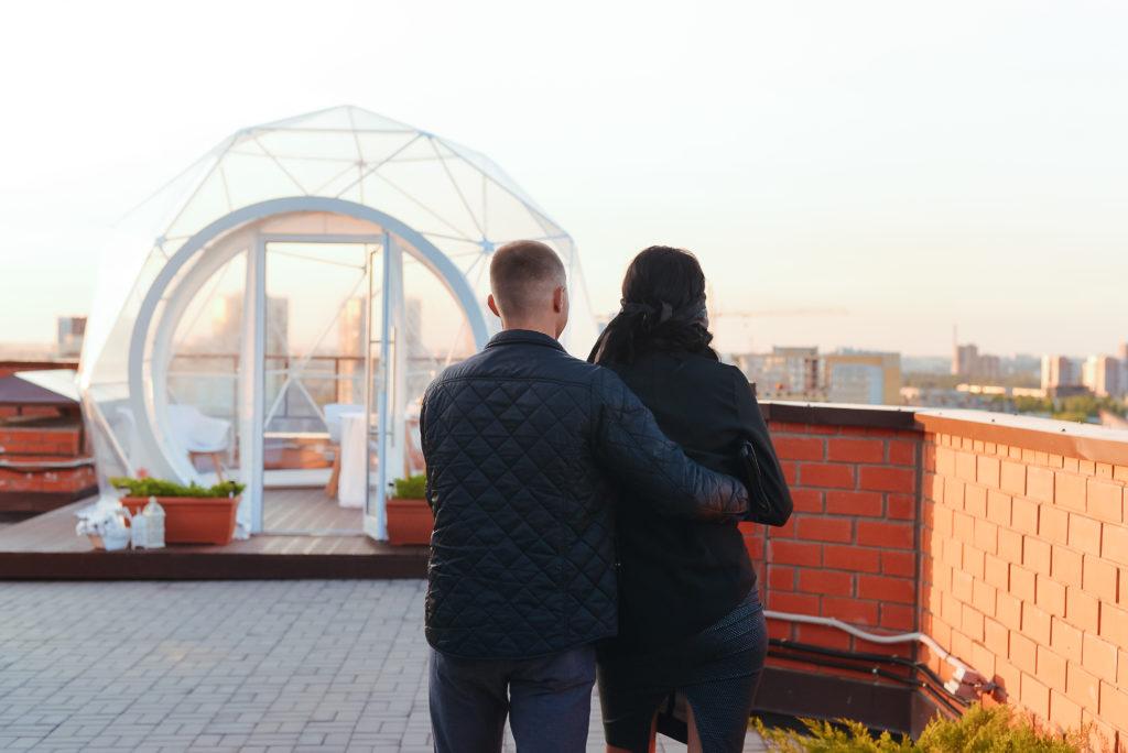 Свидание в купле на крыше с видом на Воронеж